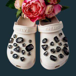 Crocs Shoe Jewel Charms GRAPHITE
